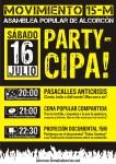 Pasacalles + cena popular + proyección en Alcorcón