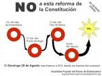 Domingo 28A, marchamos desde los barrios del suroeste a SOL contra la reforma de la Constitución