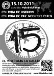 Cartel Manifestación 15 Octubre