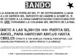 15-O llamamiento a participar en la Columna del Suroeste - Latina