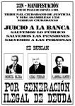 #23N - 12:00 Pza. España - ¡¡Juicio a la banca!!