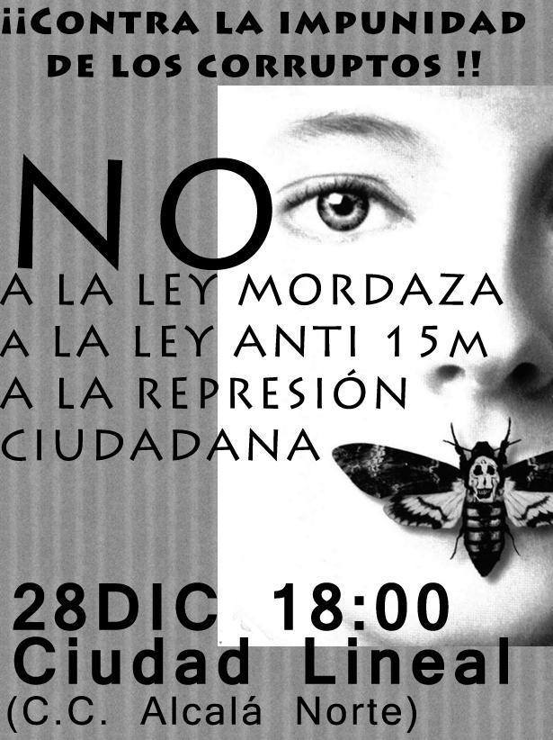 28D 18:00h !CONCENTRACIÓN CONTRA LA LEY MORDAZA!