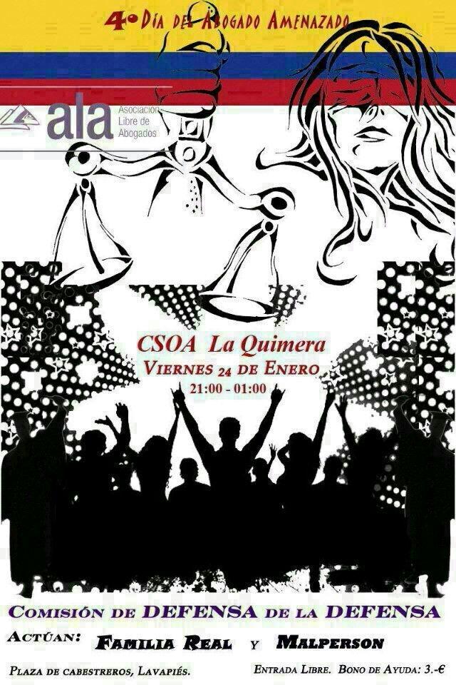 Fiesta Asociación Libre de Abogados  24-ene-2014 CSO La Quimera