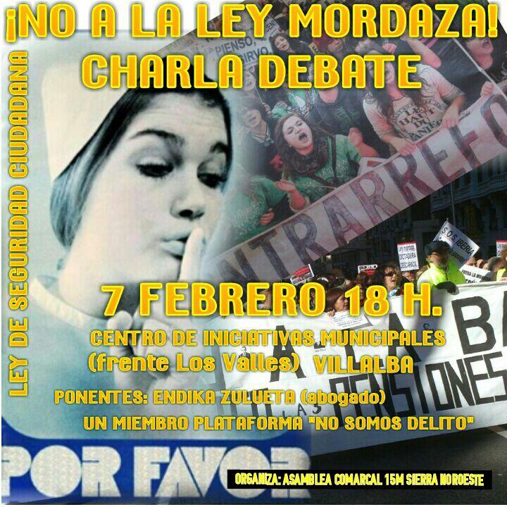 """Charla-debate sobre la Ley """"Mordaza"""""""