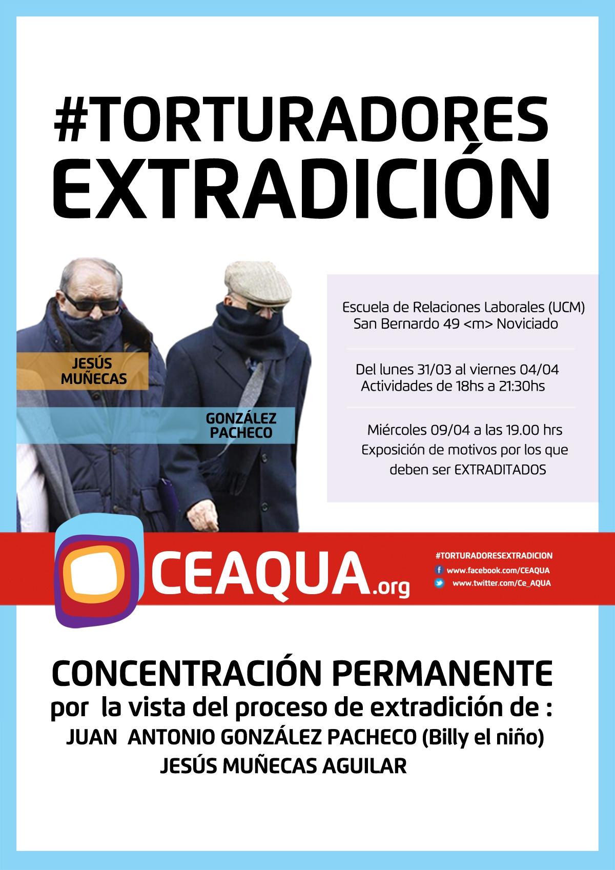 ¡NO A LA IMPUNIDAD! #TORTURADORES EXTRADICIÓN
