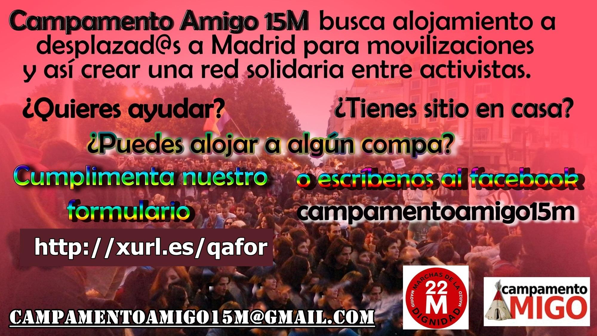 Campamento Amigo - Red Solidaria de Alojamiento - #22M