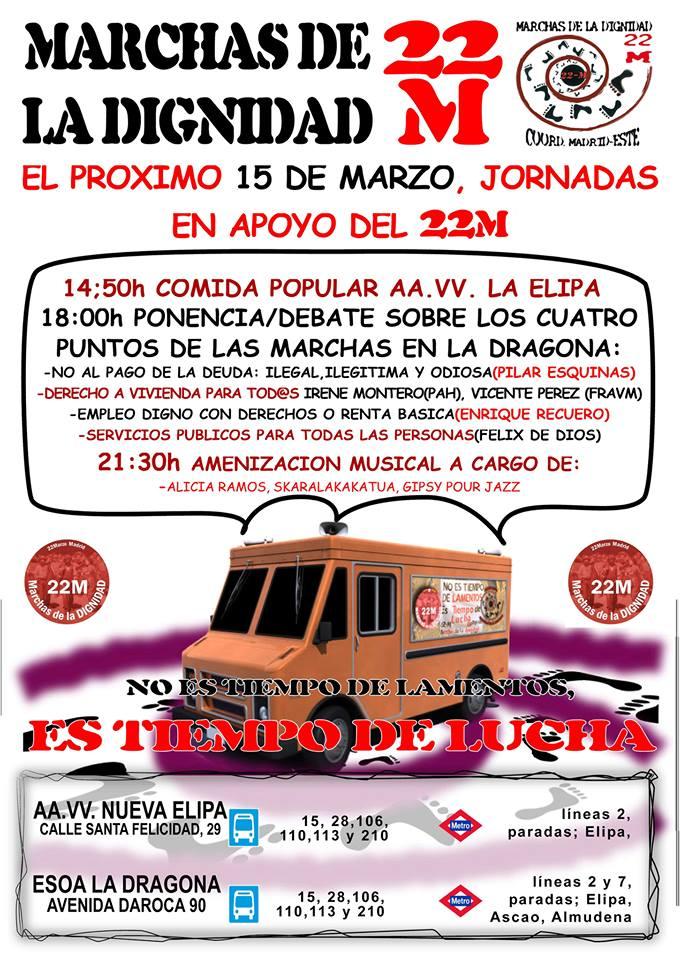 JORNADAS DE APOYO MARCHAS DE LA DIGNIDAD #22M