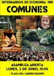 Interbarrios: Asamblea sobre bienes #Comunes. Lunes, 2 Junio Pza.Carmen 19:00