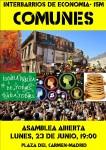 Interbarrios: II Asamblea sobre bienes #Comunes. Lunes, 23 Junio Pza.Carmen 19:00