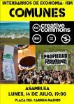 Interbarrios: III Asamblea sobre bienes #Comunes. Lunes, 14 de Julio Pza.Carmen 19:00