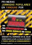 Yanguas (Soria) – Jornadas Populares contra la corrupción – 19 y 20 de Julio