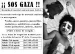 ¡SOS GAZA! CAMPAÑA RECOGIDA MATERIAL SANITARIO HASTA EL 28 Agosto