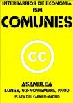 Interbarrios: Asamblea sobre #Comunes. Lunes, 3 de Noviembre Pza.Carmen 19:00
