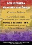 """CHARLA DEBATE """"POR NUESTRA MEMORIA HISTORICA"""""""