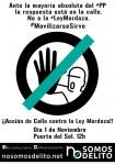EL 1 DE NOVIEMBRE, COLECTIVOS CIUDADANOS REALIZARÁN ACCIONES EN LA CALLE EN DENUNCIA A LA LEY MORDAZA.