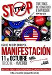 Manifestación11Oct, 18:00h Atocha ¡NO al tratado de libre comercio, TTIP!