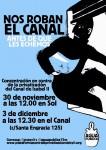 ¡NOS ROBAN EL CANAL! 30 N, 12:00 h. Sol Concentración por el agua pública