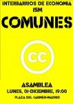 Interbarrios: Asamblea sobre #Comunes. Lunes, 1 de Diciembre Pza.Carmen 19:00