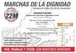 PRESENTACIÓN SEMANA DE LUCHA del 24 al 29N Marchas Dignidad 29N en Ciudad Lineal