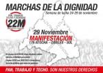 Manifestación 29N Madrid Marchas de la Dignidad