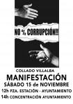 Manifestación en Villalba contra la corrupción
