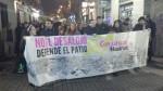 Manifestación, ocupación y desalojo en el quinto aniversario del madrileño Patio Maravillas