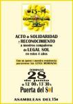 28J ACTO DE RECONOCIMIENTO POR SU LABOR A LOS COMPAS DE LEGAL SOL