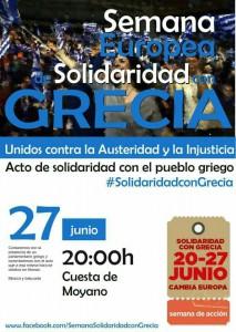 semana europea solidaridad con Grecia 27-06-2015