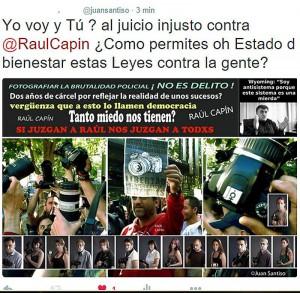YO VOY AL JUICIO INJUSTO CONTRA EL FOTOPERIODISTA RAUL CAPIN!!!  Y TU?
